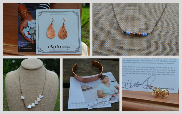 Ekata Designs Jewelry- Bracelet, Necklaces, Earrings handmade by refugee women
